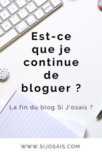 Arrêter ou continuer de bloguer