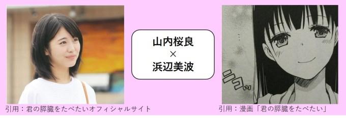 山内桜良×浜辺美波