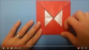 鶴の折り紙⑬