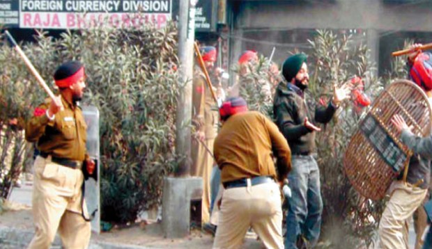 Beating innocent, non-armed sikhs?