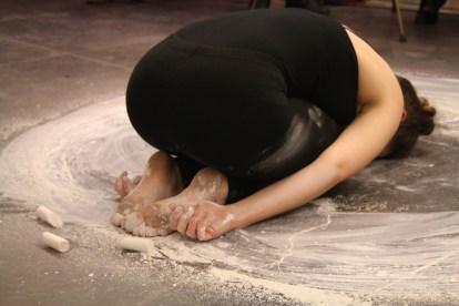 BEGIN, 06 January, 2016, 35 minute durational performance (Croxhapox Gallery, Gent, België ) Photo credit: Bárbara Prada