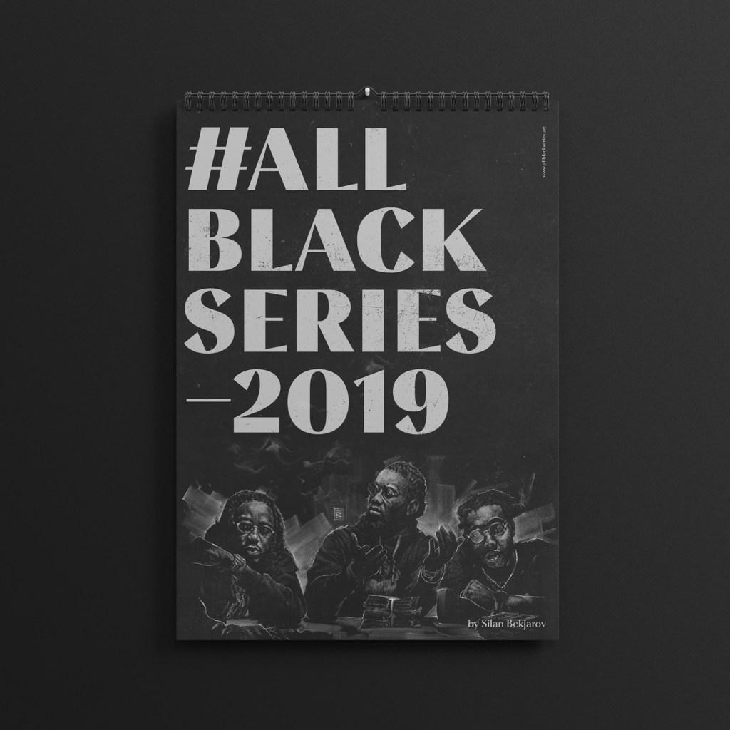 The brand new 2019 #AllBlackSeries calendar.