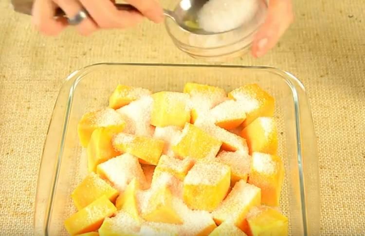 Kürbis mit Orange und Zitrone