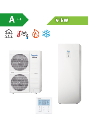 Siltumsūknis Panasonic Aquarea 9kW T-CAP All-In-One