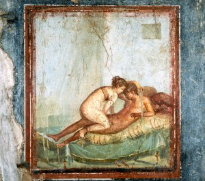 Erotic Fresco Painting From Pompeii --- Image by © Mimmo Jodice/CORBIS