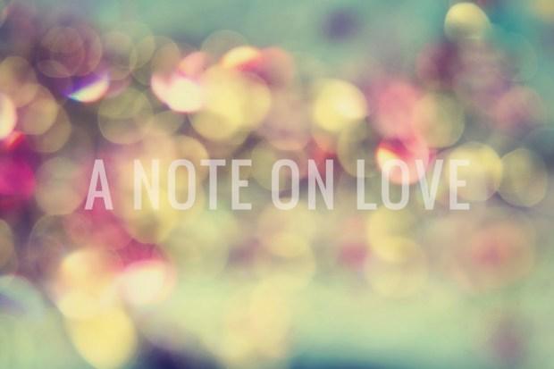 On Love (Refrain)