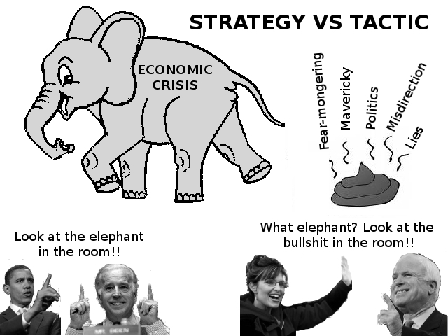The Obama Strategy vs. The McCain Tactic