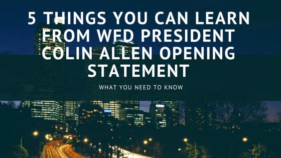 WFD Colin Allen Opening Statement