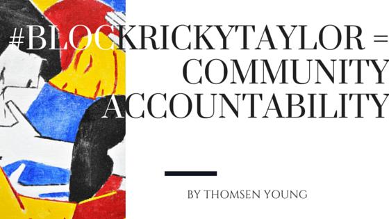 #blockrickytaylor cover post