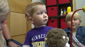 Quinn Bastian is among the few people nationwide to receive a Cochlear Implant for profound hearing loss in one ear. Tuesday, three weeks post-surgery, he heard out of that ear for the first time.