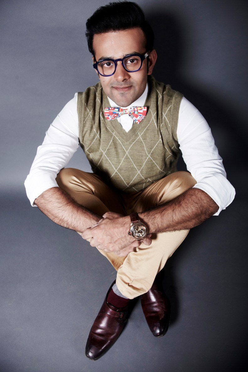 Vaibhav Kothari sitting posing for a professional shoot.