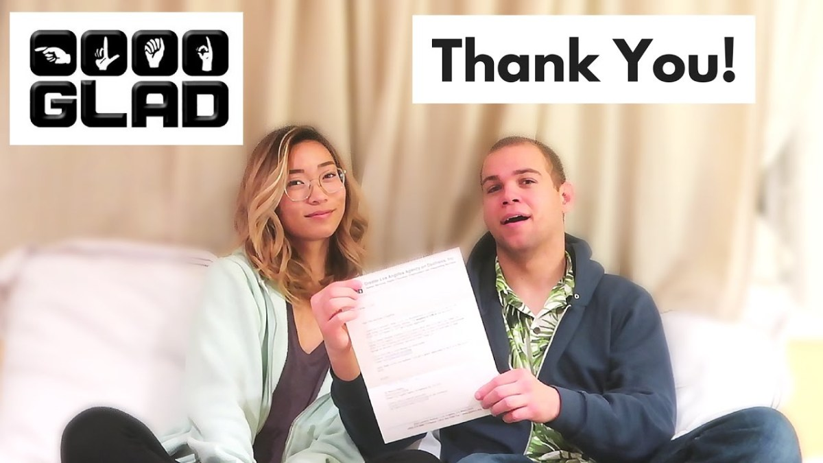DEAF CHARITY | Thank you letter from GLAD INC.