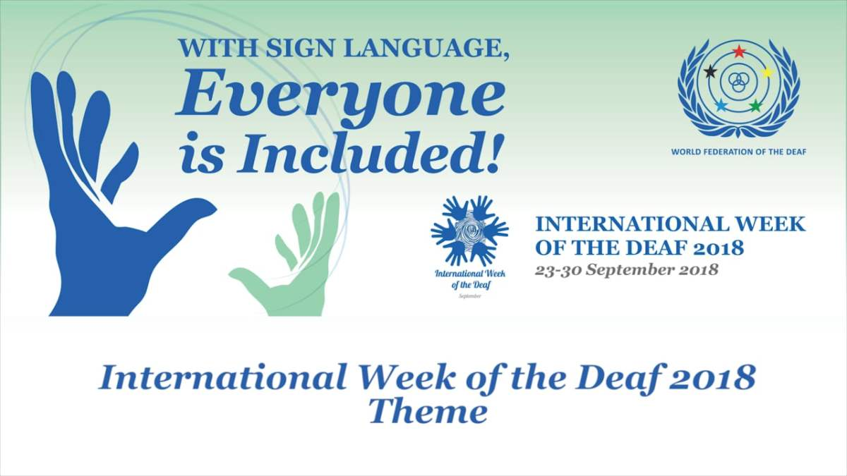 2. International Week Of The Deaf 2018 Theme