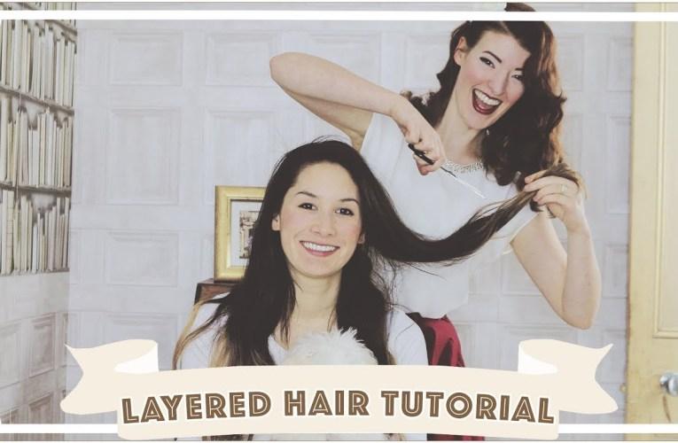 Easy Layered Hair Cut Tutorial
