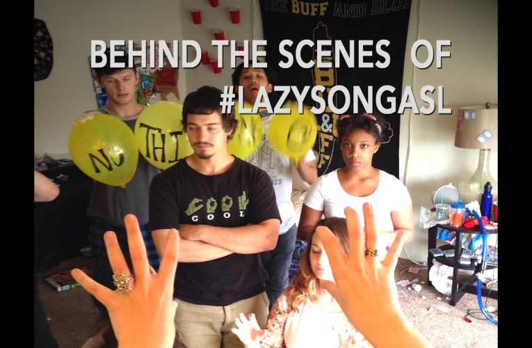 FUN FACTS! On the Set of #LazySongASL