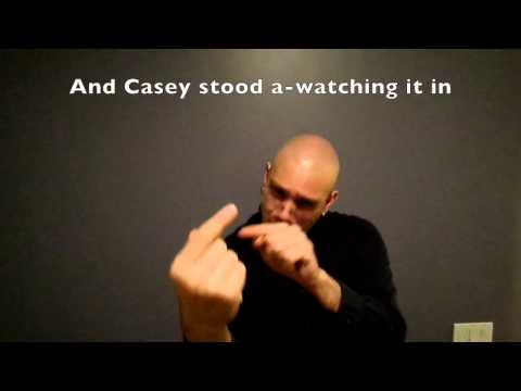 """""""Casey at the Bat"""" translated into ASL"""