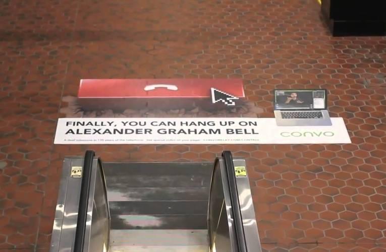 Ad at Metro Station (near Gallaudet U) – Community –  Convo