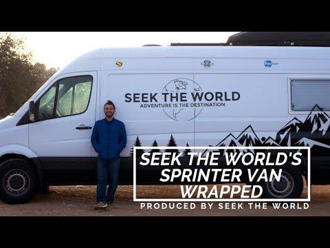 Seek the World's Sprinter Van Wrapped
