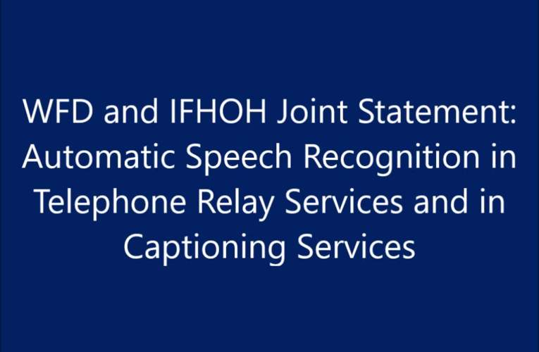 Automatic Speech Recognition in Telephone Relay Services and in  Captioning Services