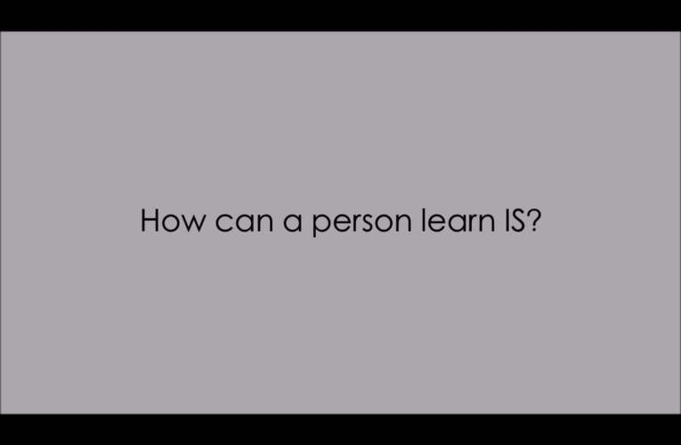 5. How can a person learn IS? (WASLI/WFD FAQ on IS)
