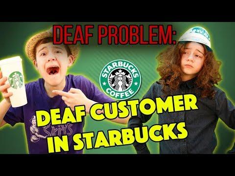 Deaf Problem: Deaf Customer In Starbuck's Cafe