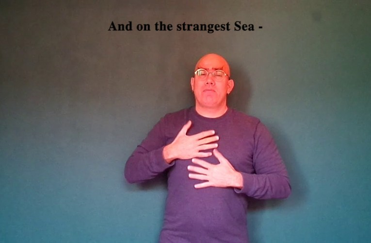 """Emily Dickinson's """"Hope is the thing with feathers"""" translated into American Sign Language"""