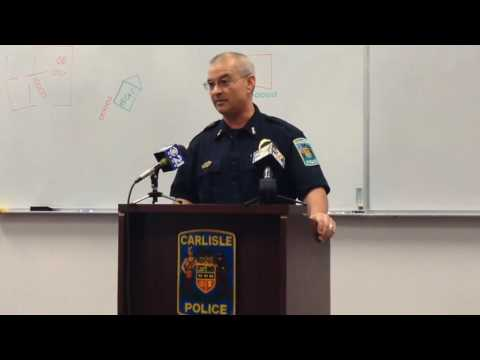 Interim Carlisle police Chief Stephen Latshaw addresses the killing of Daniel Harris