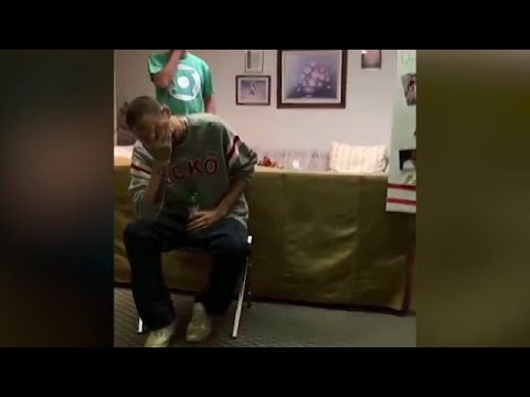 Deaf stepdad gets emotional over heartfelt surprise