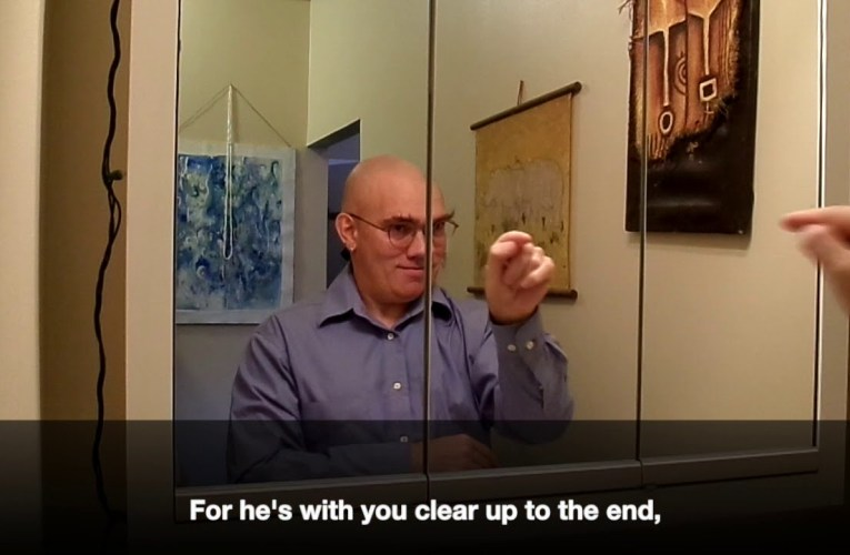 "Dale Wimbrow's ""The Guy in the Glass"" translated into American Sign Language"