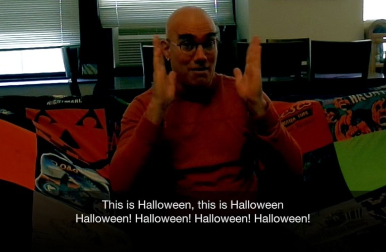 This is Halloween- signed in American Sign Language