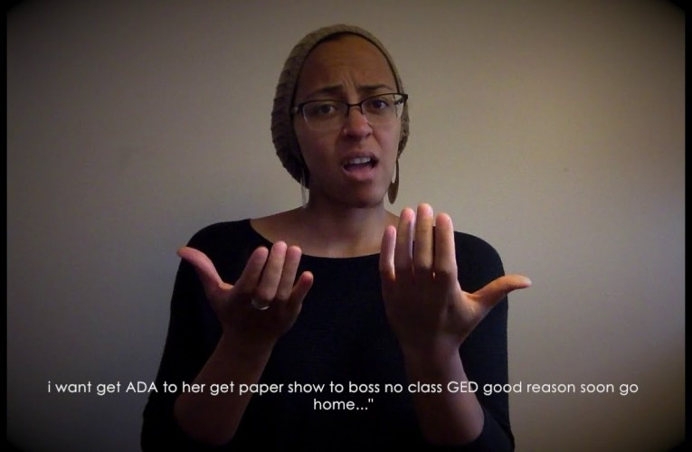 ASL March 2018 Deaf Prison Correspondence (with captions)