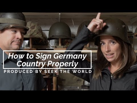 How to Sign Germany Country Properly