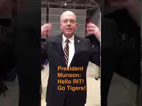 RIT on Snapchat: Introduction of Incoming President, David C. Munson Jr.