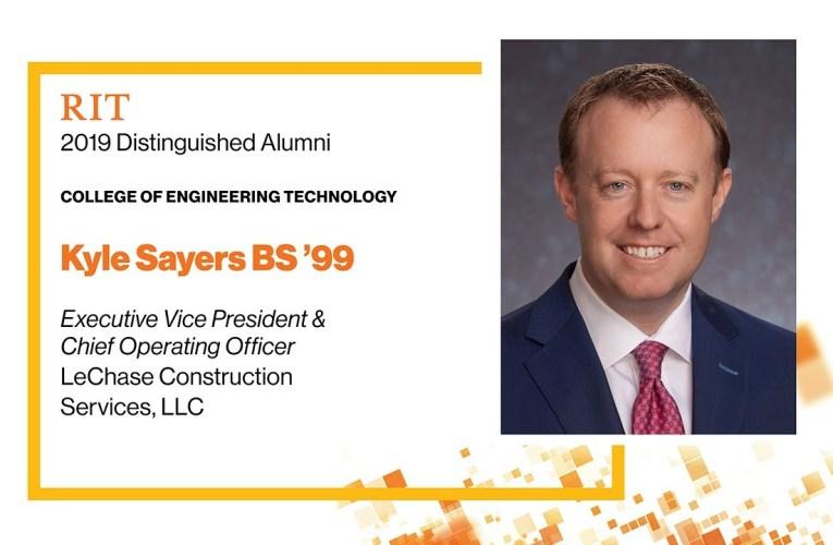 2019 CET Distinguished Alumnus: Kyle Sayers BS '99