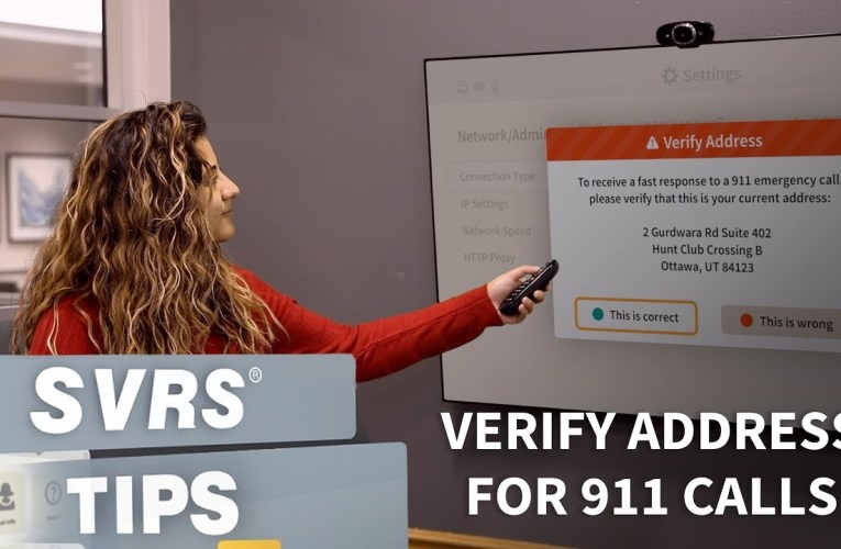 SVRS Tip: Verify Address for 911 Calls