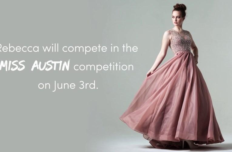 Rebecca Giuntoli competing in Miss Austin Pageant
