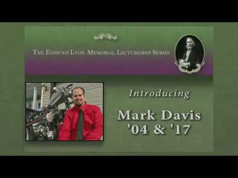 Lyon Lecture: Mark Davis