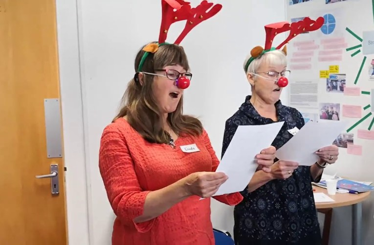 Our amazing volunteers singing 12 Days of Christmas