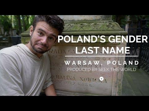 Poland: Polish Gender Last Name  (Surname)