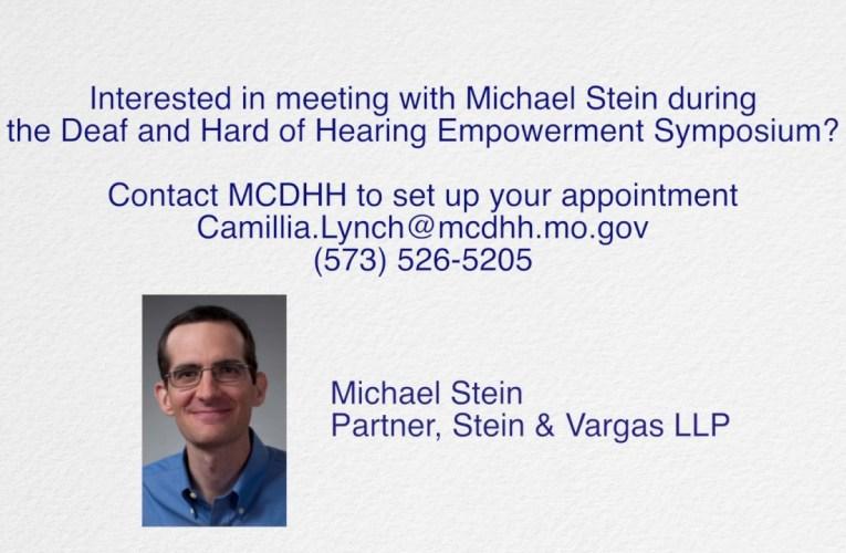 Meet with Michael Stein
