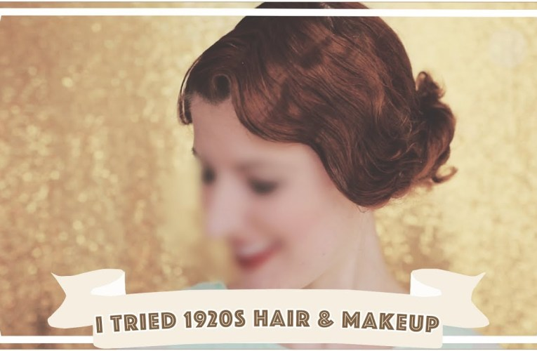 I Tried 1920s Hair and Makeup! [CC]