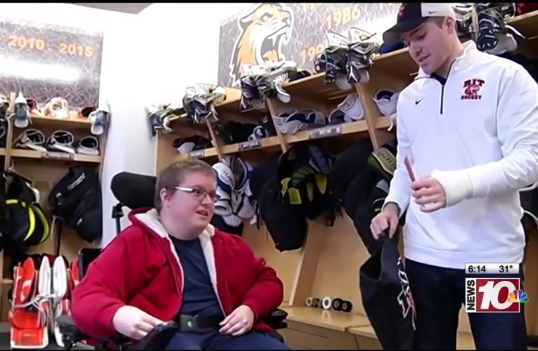 RIT on TV: Tiger Hockey Tour for Teen with Rare Disease