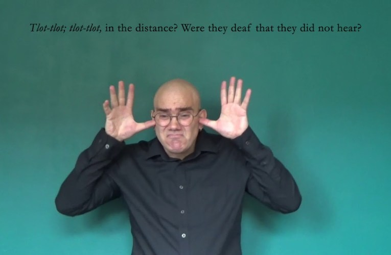 The Highwayman by Alfred Noyes translated into American Sign Language