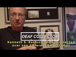 Kenneth Rothschild Collects Deaf Stamps From Around The World