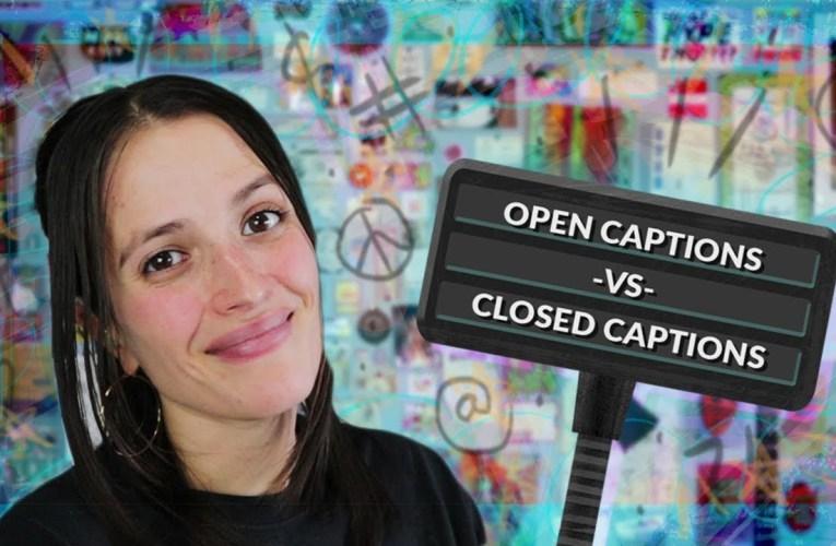 Open Captions VS Closed Captions ❤ Jessica Marie Flores ❤