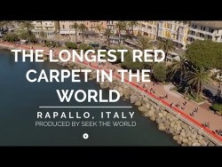 Rapallo, Italy: The Longest Red Carpet In The World!