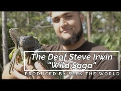 "The Deaf Steve Irwin ""The Wild Saga with Call"" - Capturing Iguana Lizard"