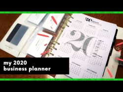 My 2020 Business Planner Setup (ft. Cloth & Paper, Webster's Pages) | Rikki Poynter