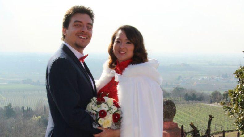 Sheila Xu and her deaf Italian husband.