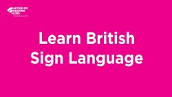 #BSLtime: Learn to say thank you to key workers in British Sign Language